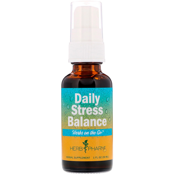 Herb Pharm, Herbs on the Go, Daily Stress Balance, 1 fl oz (30 ml)