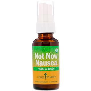 Herb Pharm, Hierbas para llevar, Ahora no naúsea, 1 fl. Oz (30 ml)