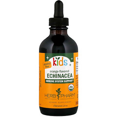Herb Pharm, 兒童紫錐花,不含酒精,柳丁味,4 液量盎司(120 毫升)