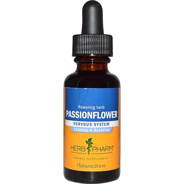 Herb Pharm, Passionflower, Flowering Herb, 1 fl oz (29.6 ml)