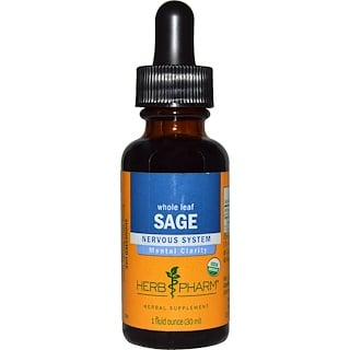 Herb Pharm, Whole Leaf Sage, 1 fl oz (30 ml)