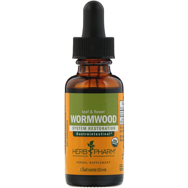 Herb Pharm, Wormwood, Leaf & Flower, 1 fl oz (30 ml)
