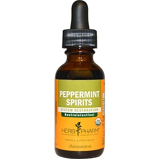 Herb Pharm, Peppermint Spirits, 1 fl oz (30 ml)