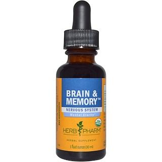 Herb Pharm, Brain & Memory, Nervous System, 1 fl oz (30 ml)