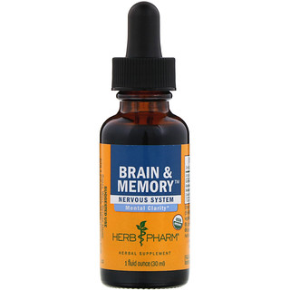 Herb Pharm, Brain & Memory, Nervous System, 1 fl oz (30 ml)