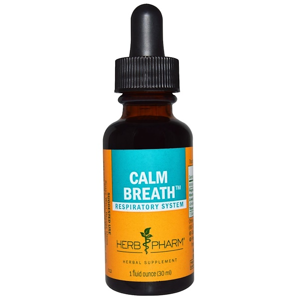 Herb Pharm, Calm Breath, Respiratory System, 1 fl oz (30 ml)