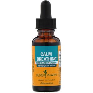Херб Фарм, Calm Breathing, Respiratory System, 1 fl oz (30 ml) отзывы