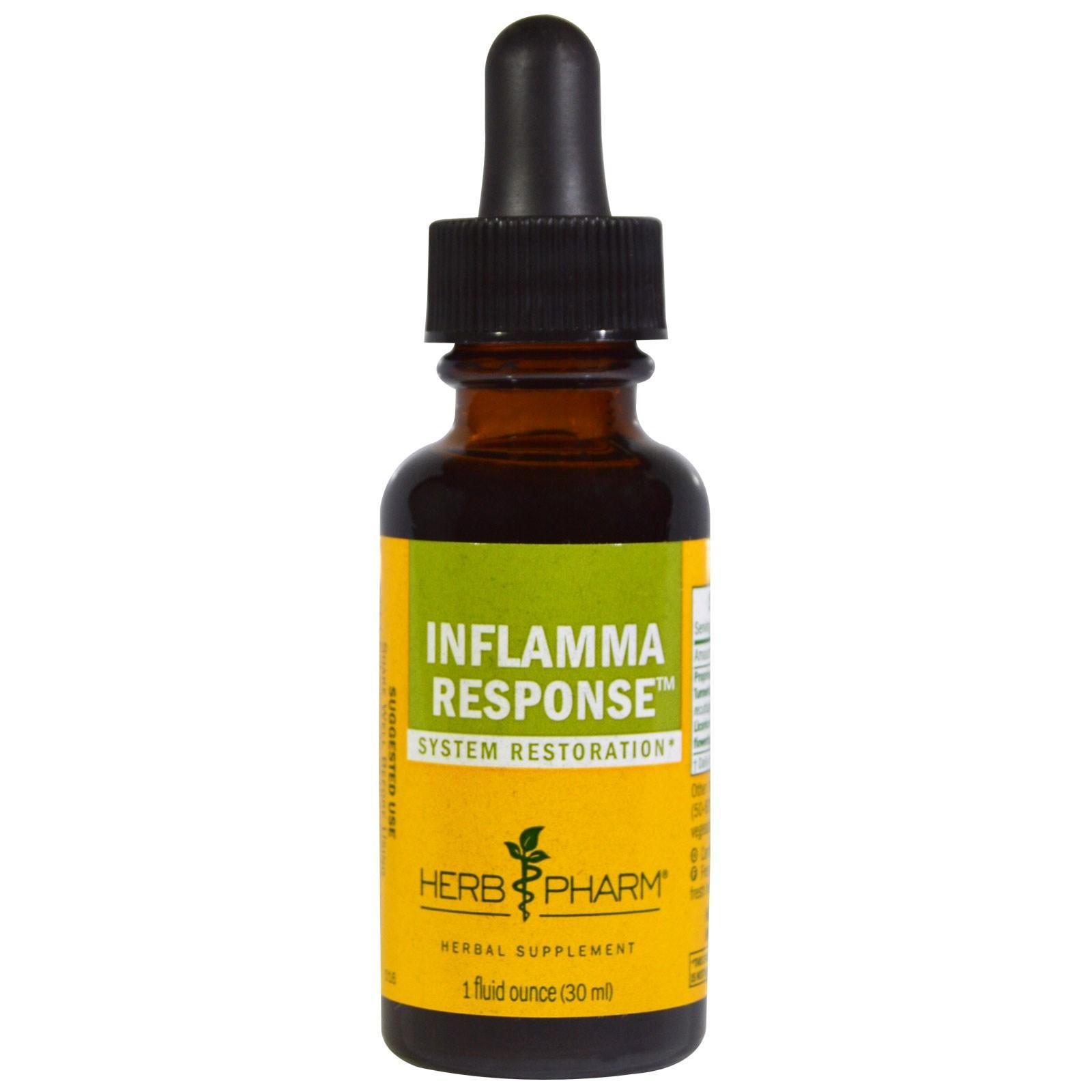 Herb Pharm, Inflamma Response (противовоспалительное средство), 1 жидкая унция (30 мл)