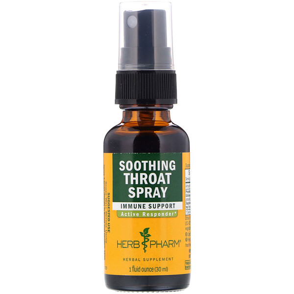 Herb Pharm, Soothing Throat Spray, 1 fl oz (29.6 ml)