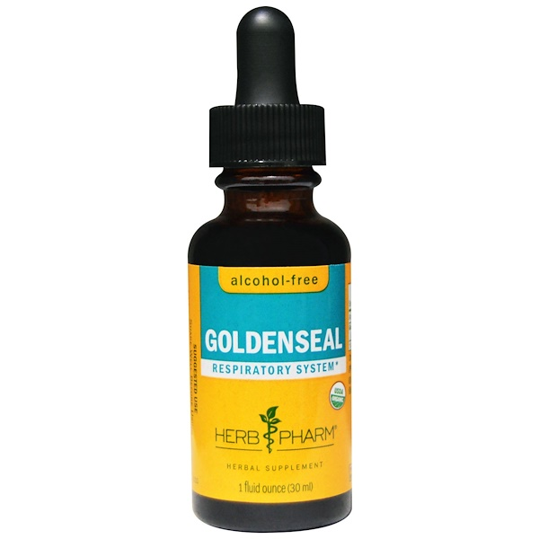 Herb Pharm, Goldenseal, Alcohol-Free, 1 fl oz (30 ml)