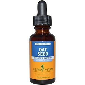 Herb Pharm, Экстракт семян овса, без спирта, 29,6 мл инструкция, применение, состав, противопоказания