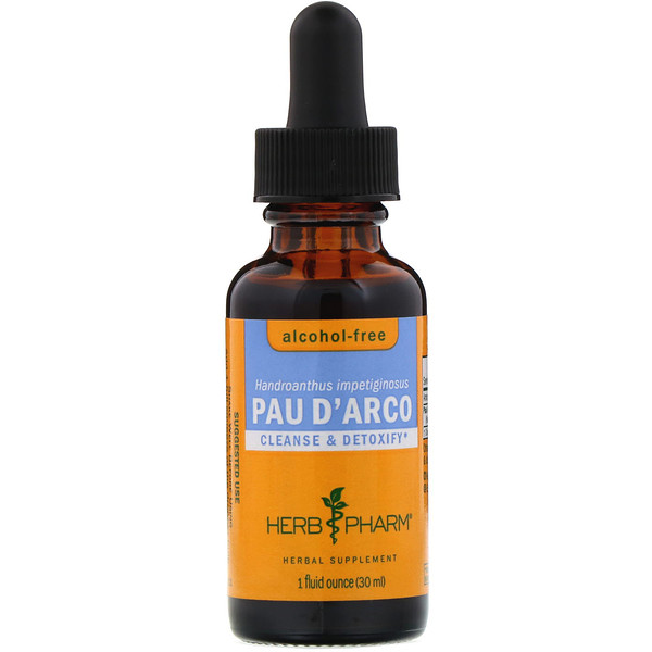 Herb Pharm, Pau D'Arco, Alcohol-Free, 1 fl oz (30 ml) (Discontinued Item)