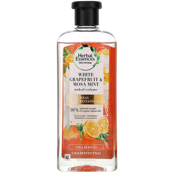 Naked Volume Shampoo, White Grapefruit & Mosa Mint, 13.5 fl oz (400 ml)