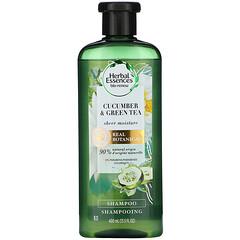 Herbal Essences, SheaMoisture 洗髮水,黃瓜和綠茶,13.5 液量盎司(400 毫升)