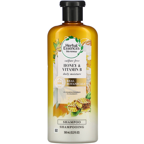 Daily Moisture Shampoo, Honey & Vitamin B, 12.2 fl oz (360 ml)