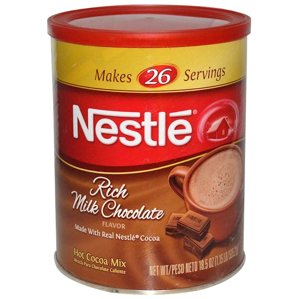 Nestle Hot Cocoa Mix, Rich Milk Chocolate Flavor, 18.5 oz (525.2 g) (Discontinued Item)
