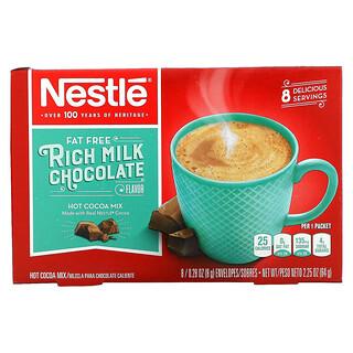Nestle Hot Cocoa Mix, Fat Free, Rich Milk Chocolate Flavor, 8 Envelopes, 0.28 oz (8 g) Each