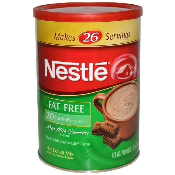 Nestle Hot Cocoa Mix, Rich Milk Chocolate Flavor, Fat Free, 7.33 oz (208 g) (Discontinued Item)