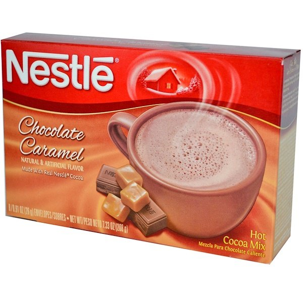 Nestle Hot Cocoa Mix, Chocolate Caramel, 8 Envelopes, 0.91 oz (26 g) Each (Discontinued Item)