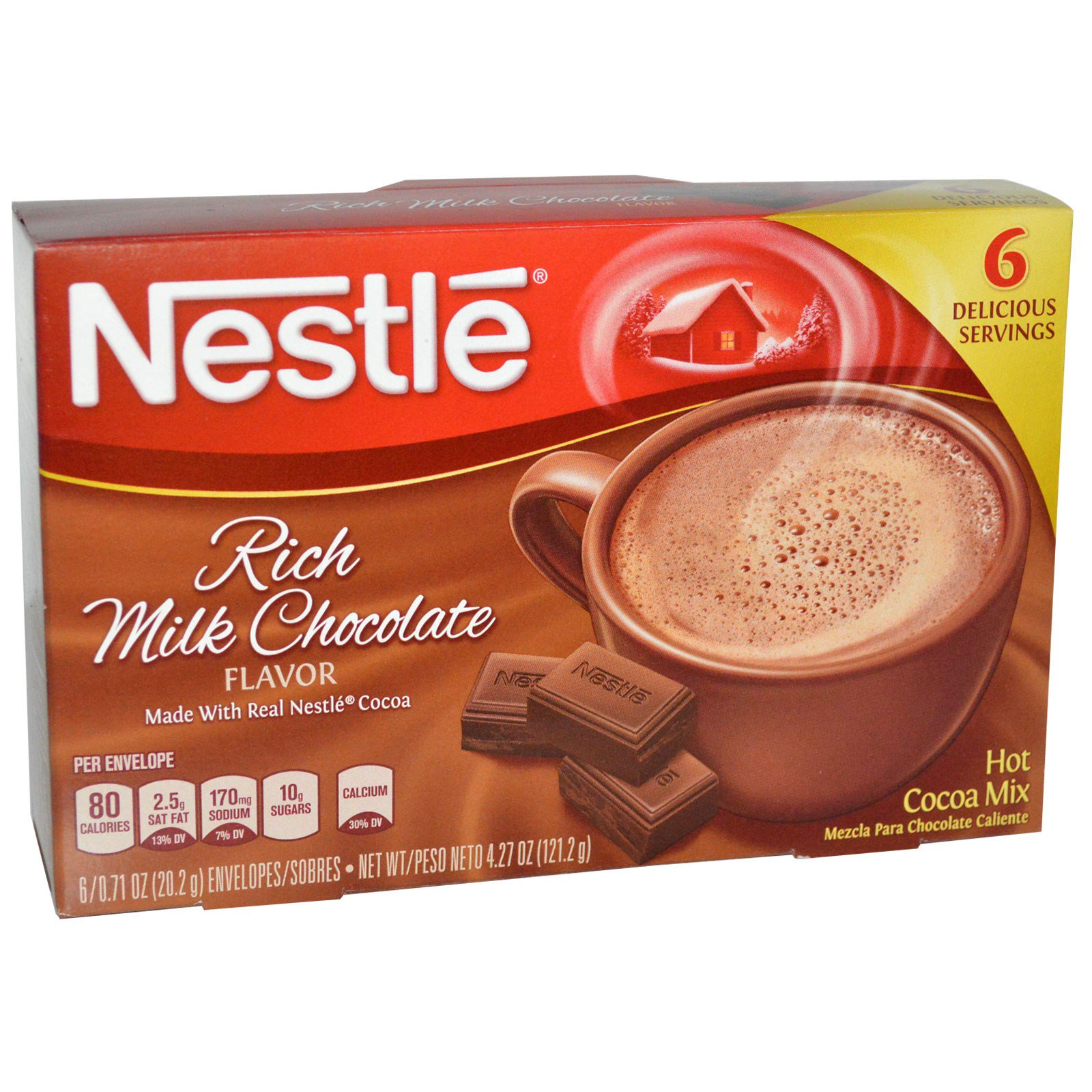 Nestle hot cocoa mix rich milk chocolate flavor 6 packets 071 nestle hot cocoa mix rich milk chocolate flavor 6 packets 071 oz sciox Choice Image