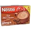 Nestle Hot Cocoa Mix, Смесь для приготовления горячего какао, Насыщенный вкус молочного шоколада, 6 пакетиков, 0,71 унция (20,2 г)