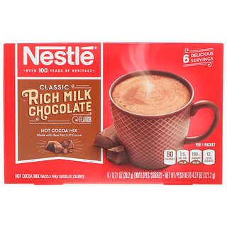 Nestle Hot Cocoa Mix, Rich Milk Chocolate Flavor, 6 Packets, 0.71 oz (20.2 g) Each