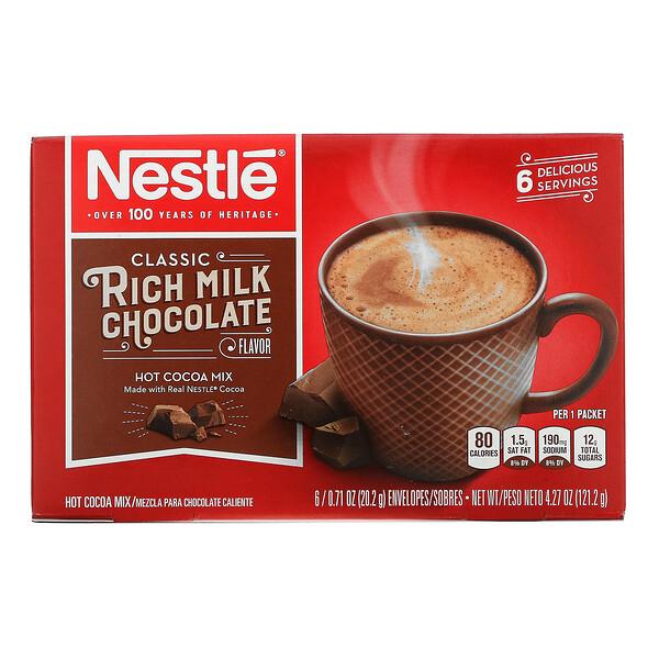 Classic Rich Milk Chocolate Flavor, 6 Envelopes, 0.71 oz (20.2 g) Each