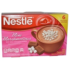 Nestle Hot Cocoa Mix, Mini Nubes, Mezcla de Chocolate Caliente, 6 Sobres, 0.71 oz (20.2 g) Each