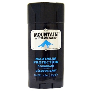 Herban Cowboy, Maximum Protection Deodorant, Mountain, 2.8 oz (80 g)