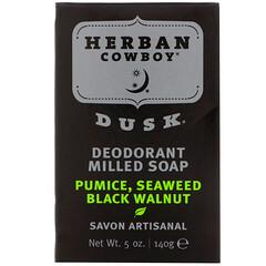 Herban Cowboy, Deodorant Milled Soap, Dusk, 5 oz (140 g)