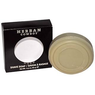 Herban Cowboy, Jabón para afeitar, Dusk, 2.9 oz (82 g)