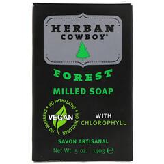 Herban Cowboy, 研壓皂,森林,5盎司(140克)