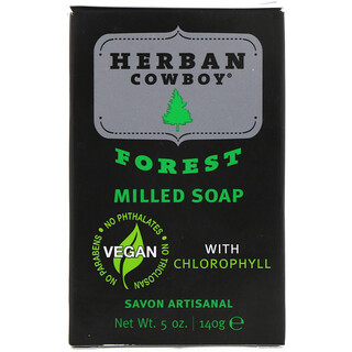 Herban Cowboy, Milled Soap, Forest, 5 oz (140 g)