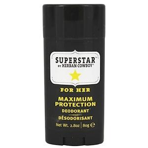 Хербан Ковбой, Maximum Protection Deodorant, For Her, Superstar, 2.8 oz (80 g) отзывы