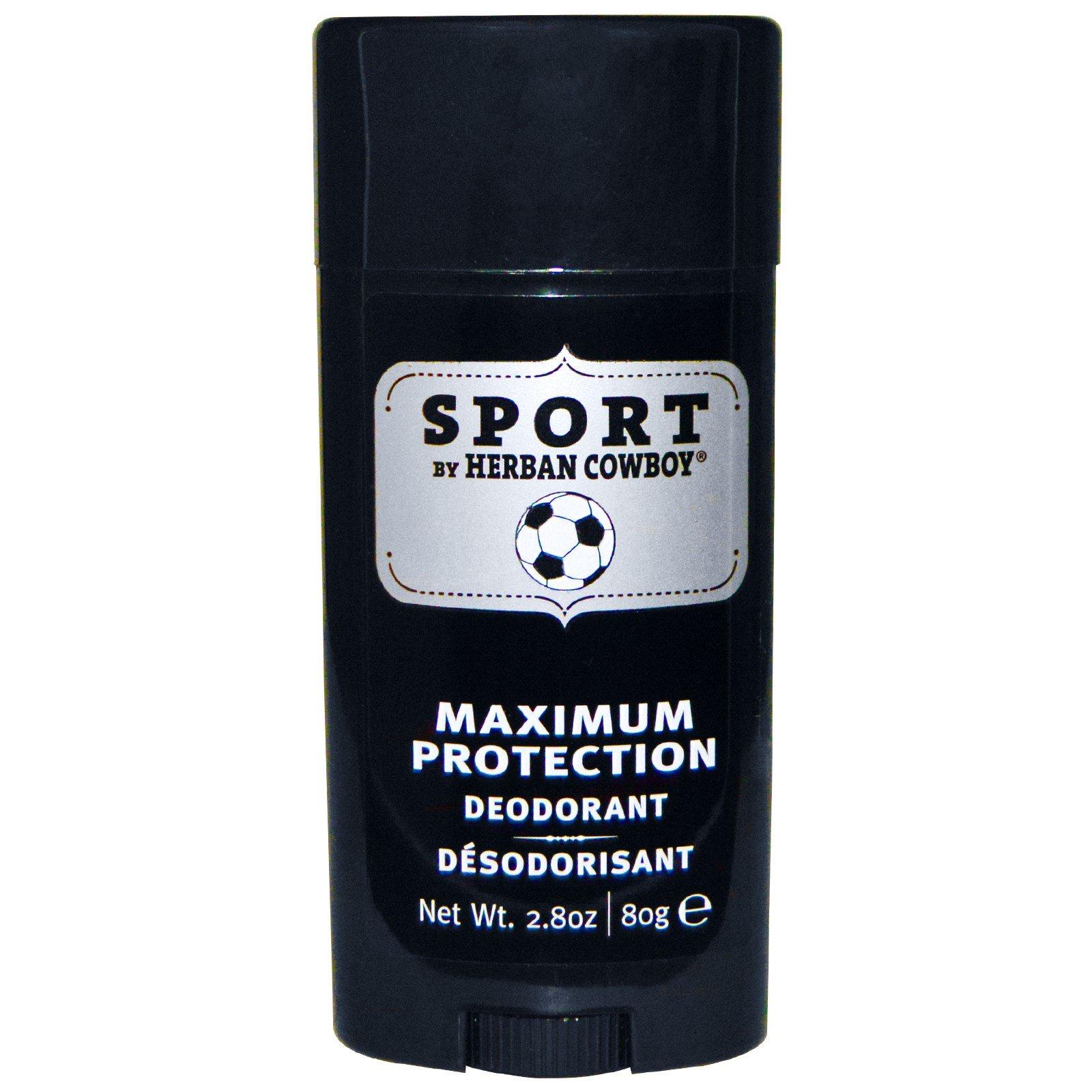 Herban Cowboy, Sport, дезодорант с максимальной защитой, 2,8 унции (80 г)
