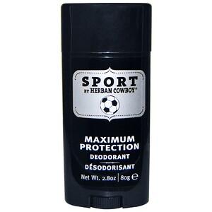 Хербан Ковбой, Sport, Maximum Protection Deodorant, 2.8 oz (80 g) отзывы