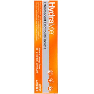 Hydralyte, Effervescent Electrolyte, Natural Orange Flavor, 20 Tablets, 2.4 oz (68 g) отзывы