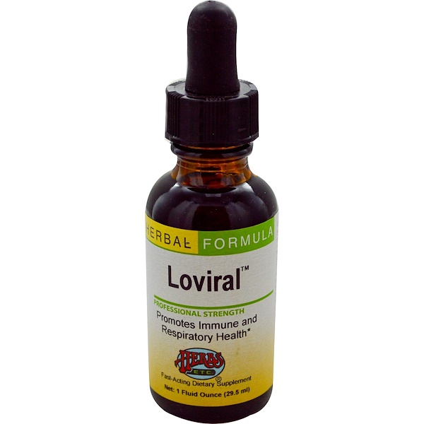 Herbs Etc., Loviral, Professional Strength, 1 fl oz (29.5 ml) (Discontinued Item)