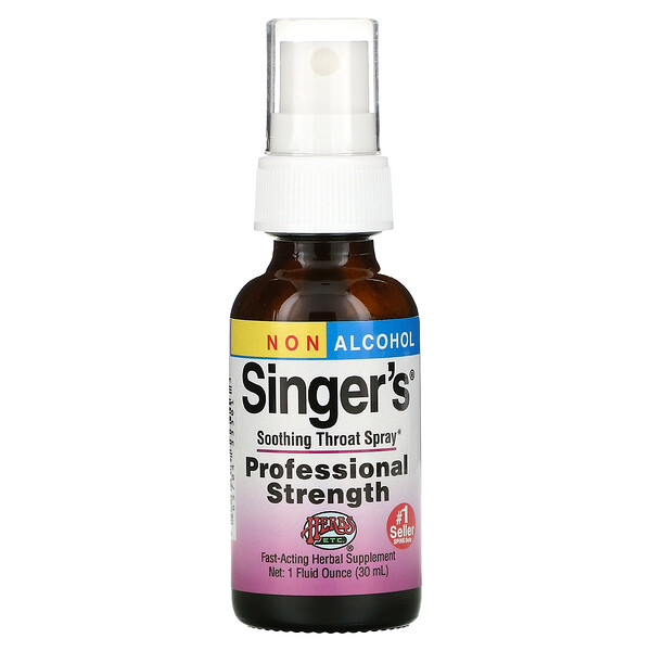 Herbs Etc., 싱어스, 진정 목 스프레이, 무알코올, 1 fl oz (30 ml)