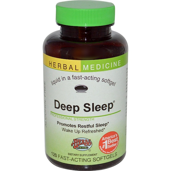 Herbs Etc., Deep Sleep, Alcohol Free, 120 Fast-Acting Softgels