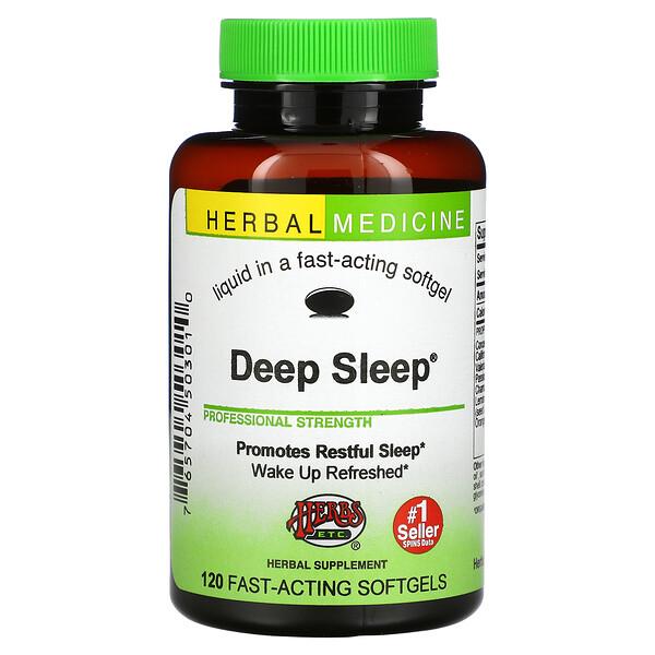 DeepSleep, Suplemento herbario, 120cápsulas blandas de acción rápida
