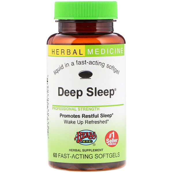 Herbs Etc., Deep Sleep, 60 Fast-Acting Softgels