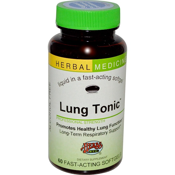Herbs Etc., Lung Tonic, Alcohol Free, 60 Fast-Acting Softgels