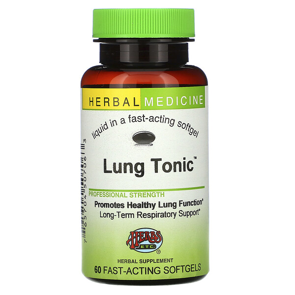 Herbs Etc., Lung Tonic, 60 Fast-Acting Softgels