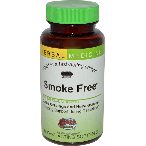 Herbs Etc , Smoke Free, Alcohol Free, 60 Fast-Acting Softgels (Discontinued  Item)