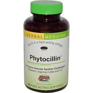 Хербс Этс, Phytocillin, Alcohol Free, 120 Fast-Acting Softgels отзывы