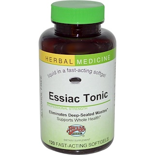 Herbs Etc., Essiac Tonic, Alcohol Free, 120 Fast-Acting Softgels