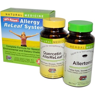 Herbs Etc., Allergy ReLeaf System, 2 Bottles, 60 Sofgels/Tablets