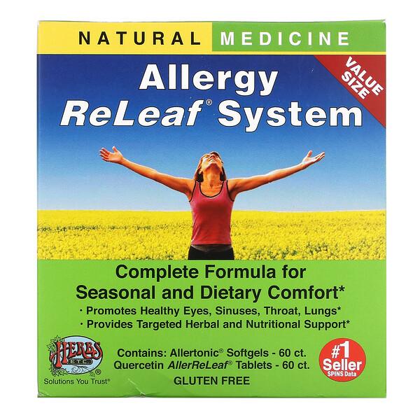 Allergy ReLeaf System, 2 Bottles, 60 Softgels/60 Tablets
