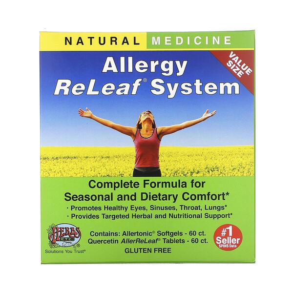 نظام ReLeaf المضاد للحساسية، زجاجتان، 60 كبسولة هلامية/قرص